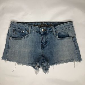 Frayed Jean Shorts